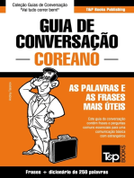 Guia de Conversação Português-Coreano e mini dicionário 250 palavras