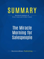 The Miracle Morning for Salespeople (Review and Analysis of Elrod, Snow and Corder's Book)