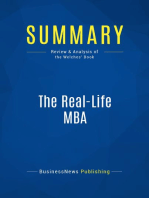 The Real-Life MBA (Review and Analysis of the Welches' Book)