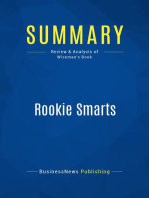 Rookie Smarts (Review and Analysis of Wiseman's Book)