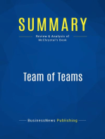 Team of Teams (Review and Analysis of McChrystal's Book)