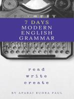 7 days modern english grammar: english grammar and composition, #1