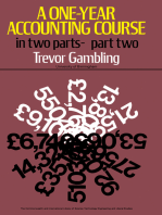 A One-Year Accounting Course