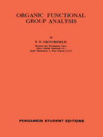 Organic Functional Group Analysis: International Series of Monographs on Analytical Chemistry, Volume 8
