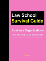 Business Organizations: Outlines and Case Summaries: Law School Survival Guides, #10
