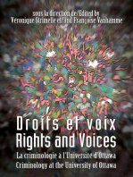 Droits et voix - Rights and Voices: La criminologie à l'Université d'Ottawa - Criminology at the University of Ottawa