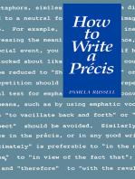 How to Write a Précis