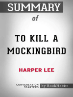 Summary of To Kill a Mockingbird by Harper Lee | Conversation Starters