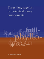 Three Language List of Botanical Name Components