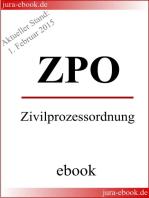 ZPO - Zivilprozessordnung - Aktueller Stand