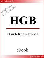 HGB - Handelsgesetzbuch - Aktueller Stand
