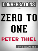 Zero to One: by Peter Thiel | Conversation Starters