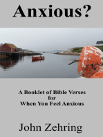 Anxious? A Booklet of Bible Verses for When You Feel Anxious