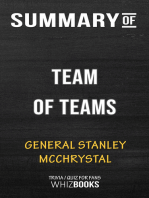 Summary of Team of Teams by General Stanley McChrystal | Conversation Starters