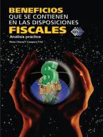 Beneficios que se contienen en las disposiciones fiscales: Análisis práctico 2015
