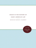 Essays in the History of Early American Law