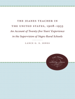 The Jeanes Teacher in the United States, 1908-1933: An Account of Twenty-five Years' Experience in the Supervision of Negro Rural Schools