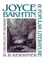 Joyce, Bakhtin, and Popular Literature: Chronicles of Disorder