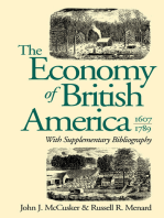 The Economy of British America, 1607-1789