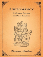 Chiromancy - A Classic Article on Palm Reading