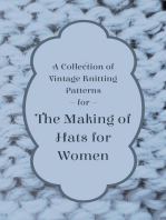 A Collection of Vintage Knitting Patterns for the Making of Hats for Women