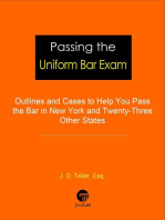 Passing the Uniform Bar Exam: Outlines and Cases to Help You Pass the Bar in New York and Twenty-Three Other States: Professional Examination Success Guides, #1