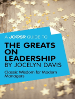 A Joosr Guide to... The Greats on Leadership by Jocelyn Davis