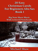 20 Easy Christmas Carols For Beginners Alto Sax