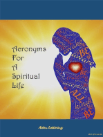 Acronyms For A Spiritual Life
