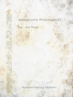 Analytische Philosophie?