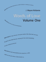 Words of Love Volume 1