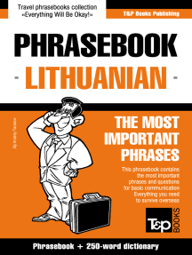 Phrasebook Lithuanian: The Most Important Phrases - Phrasebook + 250-Word Dictionary