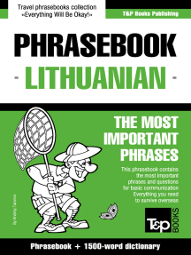 Phrasebook Lithuanian: The Most Important Phrases - Phrasebook + 1500-Word Dictionary