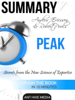 Anders Ericsson and Robert Pool's PEAK Secrets from the New Science of Expertise | Summary
