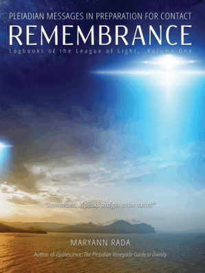 Remembrance: Pleiadian Messages in Preparation for Contact (Logbooks of the  League of Light, volume 1) by Maryann Rada - Book - Read Online