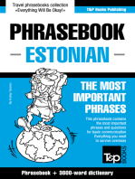 English-Estonian Phrasebook and 3000-Word Topical Vocabulary