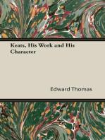 Keats, His Work and His Character