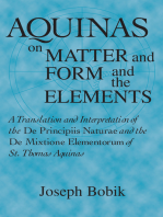 Aquinas on Matter and Form and the Elements