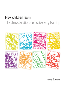How Children Learn: The Characteristics of Effective Early Learning