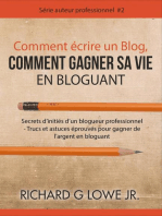 Comment écrire un Blog, Comment gagner sa vie en Bloguant