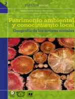 Patrimonio ambiental y conocimiento local