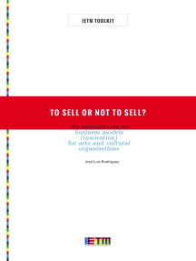 To Sell or Not To Sell? An Introduction to Business Models (Innovation) for Arts and Cultural Organisations