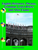 English Dictionary, Phrases, Grammar, Learn Before and After Exams