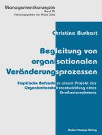 Begleitung von organisationalen Veränderungsprozessen