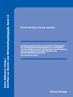 Epistemologische Überzeugungen als Bestandteil der professionellen Kompetenz von Lehrkräften und ihre Bedeutung für die Auswahl und Bewertung von Lernaufgaben aus Schulbüchern des Wirtschaftslehreunterrichts