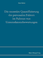 Die monetäre Quantifizierung des personalen Faktors im Rahmen von Unternehmensbewertungen