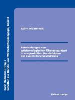 Entwicklungen von epistemologischen Überzeugungen in ausgewählten Berufsfeldern der dualen Berufsausbildung