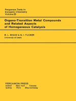 Organo-Transition Metal Compounds and Related Aspects of Homogeneous Catalysis: Pergamon Texts in Inorganic Chemistry