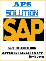 Modules Sales Distribution and Material Management In SAP AFS Solution