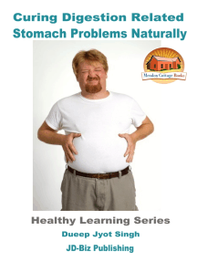 Curing Digestion Related Stomach Problems Naturally